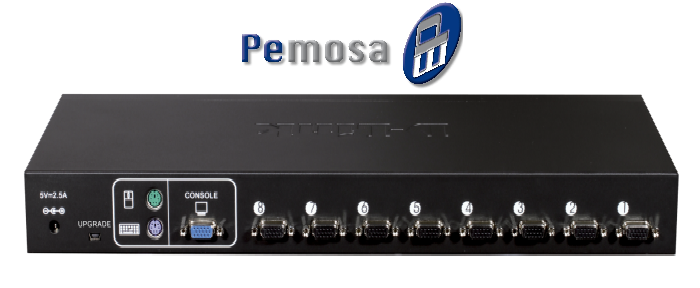 8-Port PS/2 USB Stackable KVM Switch
