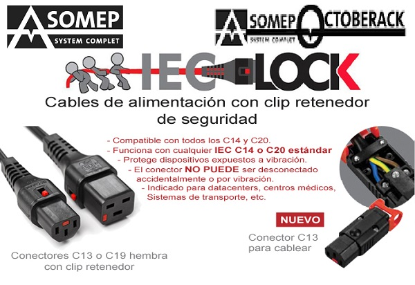 POWER CABLES AMS IEC LOCK GAMA DE BLOQUEO IEC