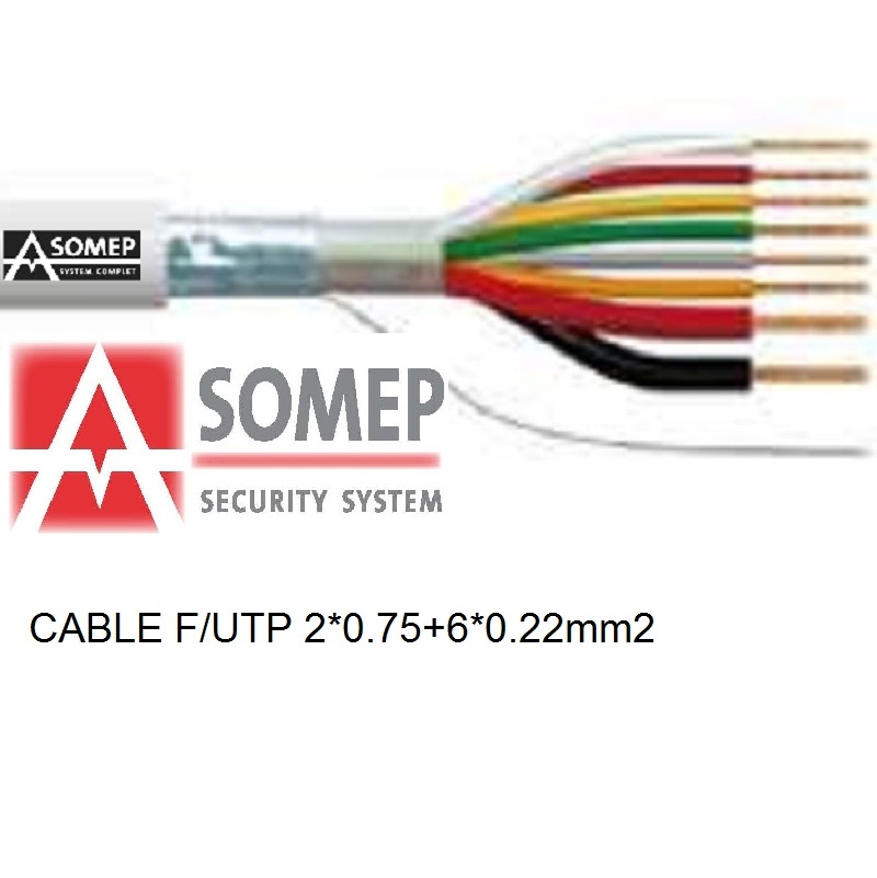 CABLE MANGUERA F/UTP 6X0.25 + 2X0.75 HF-1 BLANCO (ASS)