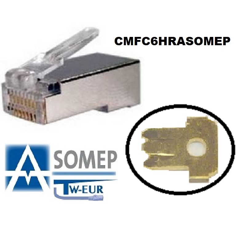 CONECTOR MACHO FTP CAT6  Hilo Rigido/Flexible ASOMEP