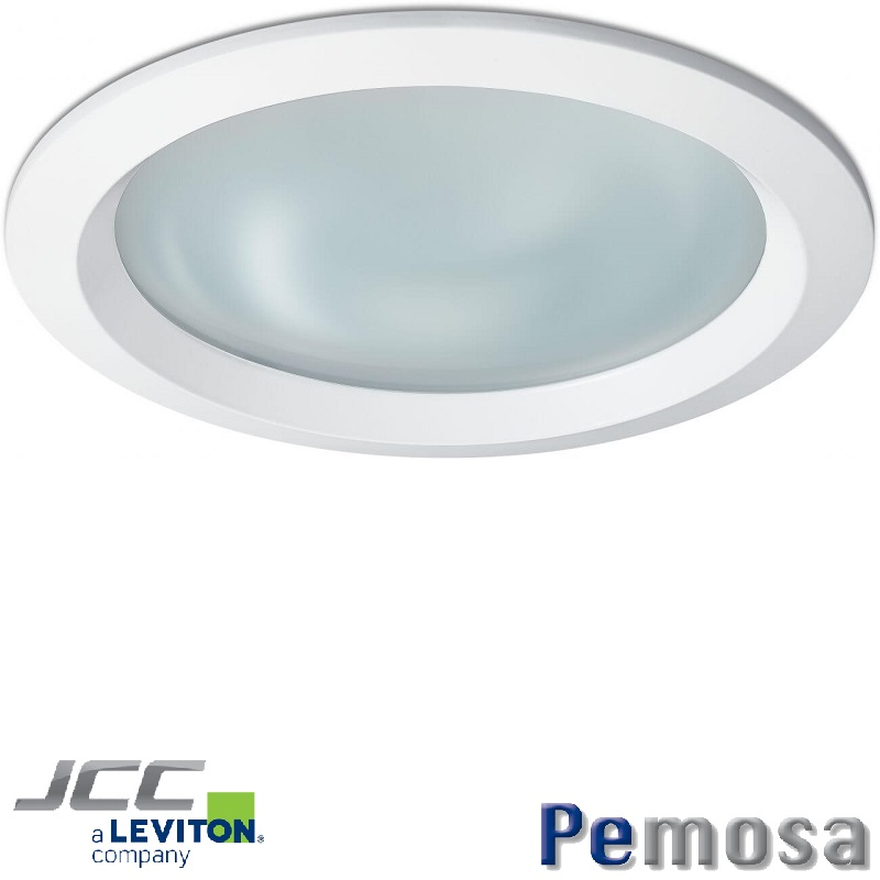 Anillo para Downlight Coral color blanco con cristal opaco