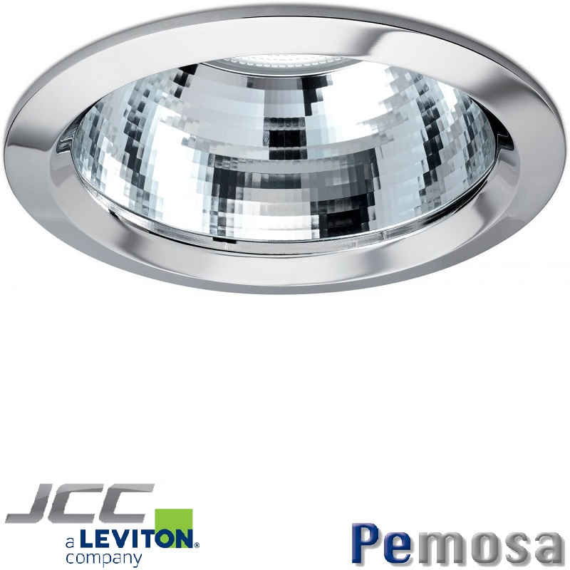 Anillo para Downlight Coral, color cromo.