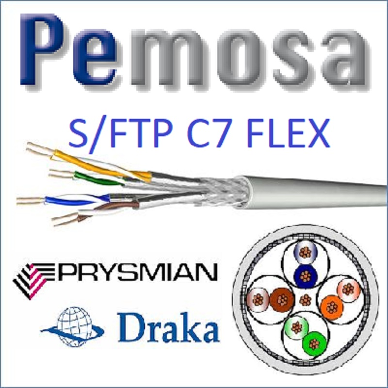 CABLE S/FTP C7E 4X2XAWG27/7 FLEXIBLE HF1 0500 BLANCO