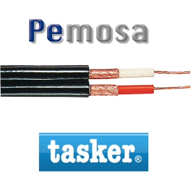 Cable Coaxial 2x0,75mm2/4,5x9mm Negro C121 TASKER