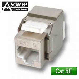 Conector Hembra STP Categoria 5e Keyston LSA/PLUS color Blanco