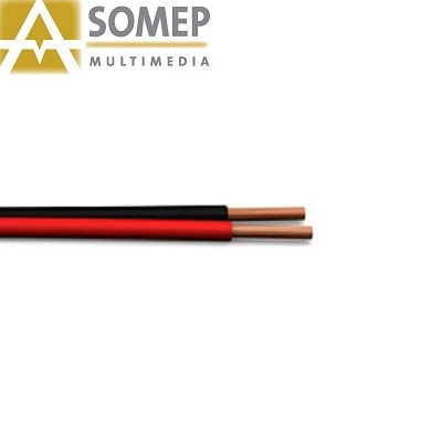 CABLE PARALELO BICOLOR 2X0,75mm (ROJO/NEGRO) (AMS)