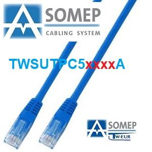 PATCH-CORD U/UTP C5E 3,00 M.PVC C/C AZUL (Tweur)